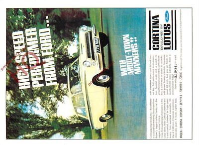 Picture Postcard::Ford Cortina Lotus MK I 1962 Advertising (Repro)
