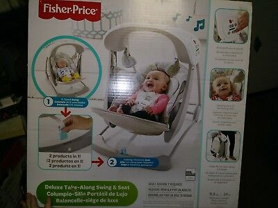 b2bab3048 FISHER-PRICE DELUXE TAKE-ALONG Swing   Seat -  91.99