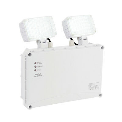 SAXBY SIGHT Emergency Non-Maintained Outdoor Twin LED Spot Exit Light IP65