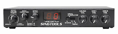 VOCOPRO SINGTOOLS DSP Vocal Effects Karaoke Mixer w/ Voice Pitch Correction
