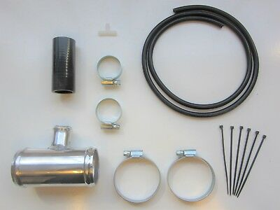 """Dump Valve Fitting Kit 50mm Alloy T-Piece for 25mm BOV - BLACK Silicone 2"""" Inch"""