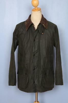 Mens BARBOUR Bedale Waxed Jacket Green Size 38