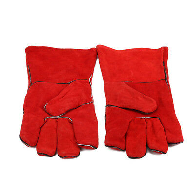 Welding Leather Double Layer Gloves Heat Shield Cover Guard Safe Protection
