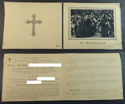 Old Blessed Christ With The Cross Holy Card  1941  Andachtsbild Santini   Cc2077