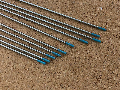 1.6mm x 150mm Turquoise Tungsten Rare Earth AC / DC Tig Welding Electrode WS2