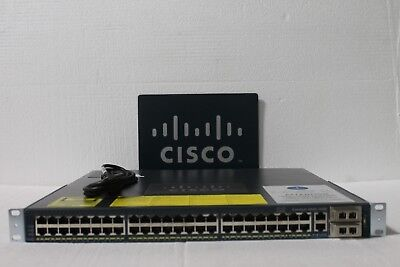 Cisco WS-C4948-10GE-S 4948-10GE 48 Port Gigabit +10GB Switch w/ Dual AC 15.0 OS