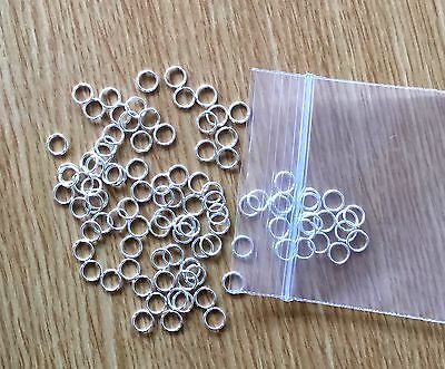 JUMP RINGS 100 Silver Plated 6mm Single open rings Great For Links and Charms