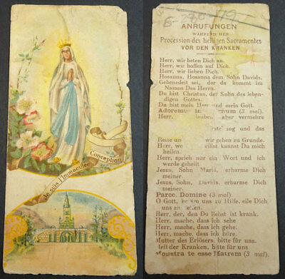 Old Blessed Immaculate Conception Holy Card Andachtsbild Santini Santino  Cc2089