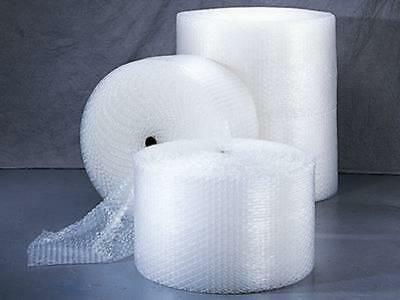 "3/16"" Small Bubble Cushioning Wrap.  48"" W x 300' L. Four 12"" or Two 24"" Rolls."