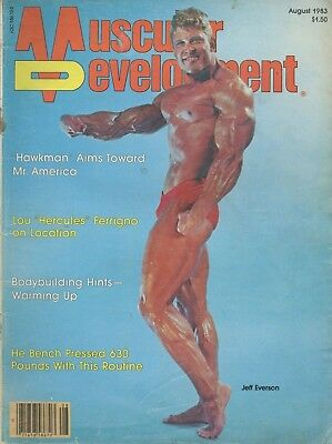 Muscular Development Bodybuilding Magazine August 1983 Jeff Everson