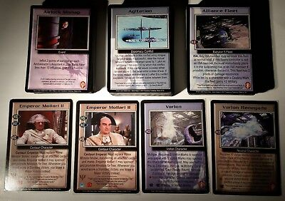 Babylon 5 B5 CCG Wheel of Fire Common/Uncommon/Rare NM/Mint Full Complete Set