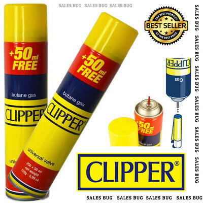 Clipper Universal High Quality Butane Gas Lighter Refill Fluid 250+50ml Fuel
