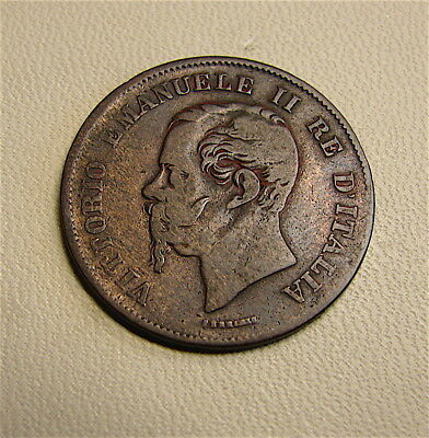 Italy~~~~5 Centesimi Coin~~~~Dated of 1862~~~~free ship
