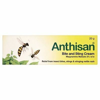 Anthisan Bite & Sting Insect Relief Children Adults Nettle Rash Cream 20G