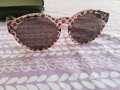 STELLA MCCARTNEY WOMENS ROUND TRANS ORCIRRD BROWN 2048/73 SUNGLASSES Preowned