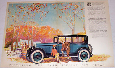 Old Nash Poster Sign Special Six Sedan Vintage 6 Car Auto Ad Advertising Picture