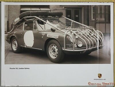 "FreeShip London-Sydney Genuine Porsche Factory Showroom Poster Original 40"" x 30"