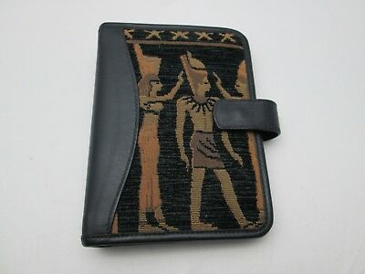 """Egypt Theme Compact 7.5x5.5"""" Planner Binder 6 Ring 1"""" Agenda Magnetic Closure"""