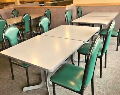 Restaurant Chairs - excellent condition - Green with Black metal frames