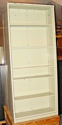 METAL Bookshelf - Manufactured by Borroughs - 84 inch tall