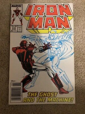 Marvel Iron Man 219 1st Appearance Of The Ghost * Key  * Newsstand