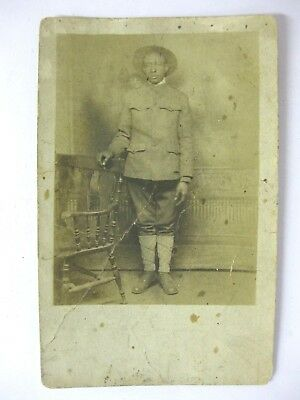 WW I Photo Postcard  BLACK SOLDIER Real AZO Post Card African American History