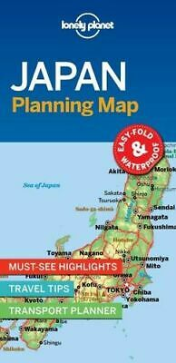NEW Japan Planning Map By Lonely Planet Travel Guide Folded Sheet Map