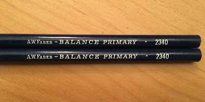 2 New Vintage General's Qality Pencils, A.W.Faber-Balance Primary,2340 Very Rare