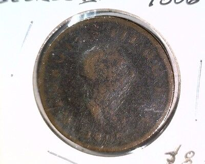 "1806 Great Britain Half Penny Coin KM#662 Geo III  ""WC"" Lot"
