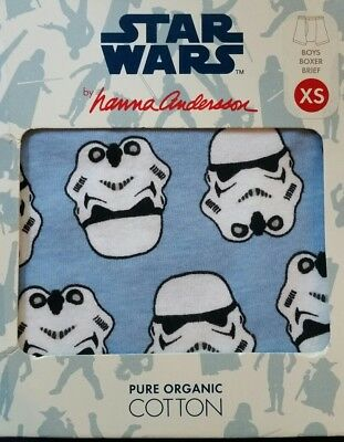 Nwt Hanna Andesson Boxer Briefs Unders Star Wars Storm Trooper Xs 80 90 2T 3T