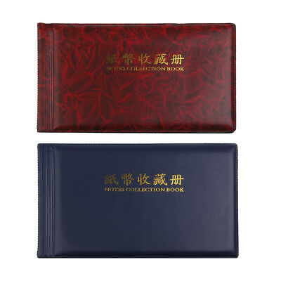 2x Banknote Currency Coins Album Storage 60Pcs Paper Money Pocket Collection