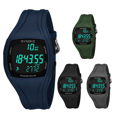 LED Men Women Soprt Waterproof Watch Alarm Activity Pedometer Fitness Wrist Band