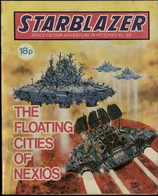 The Floating Cities Of Nexios,starblazer Space Fiction In Pictures,no.99,1983