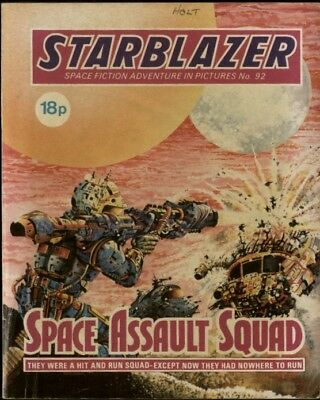 Space Assault Squad,starblazer Space Fiction Adventure In Pictures,no.92,1983