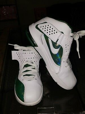 best sneakers 52b3d d0642 Nike Lebron James Air Max White green Soldier V TB Men s Basketball Shoes  SZ 8