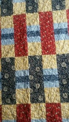 Handmade Patchwork Quilt - Single Bed