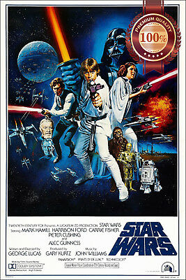 New A New Hope Star Wars Ep 4 Iv Original Cinema Movie Film Print Premium Poster