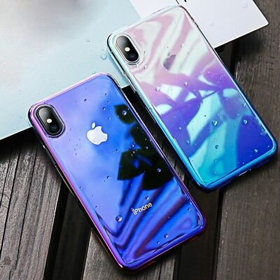 IRIDESCENT Luxury Ultra Slim Shockproof Bumper Case Cover for Apple iPhone X