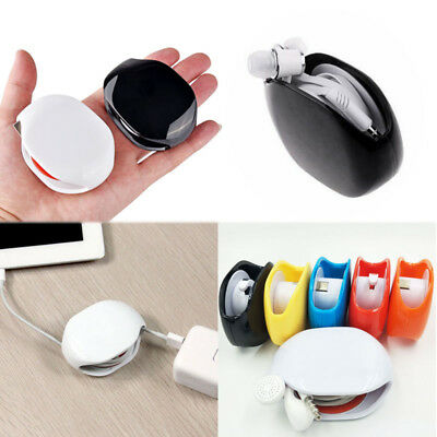 Portable Automatic Headphone Earphone Cord Cable Winder Organizer Storage Holder