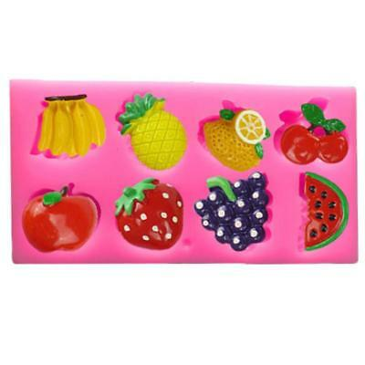3D Fruits Shape Silicone Fondant Cake Mould Decor Tools Chocolate Soap Mold LG