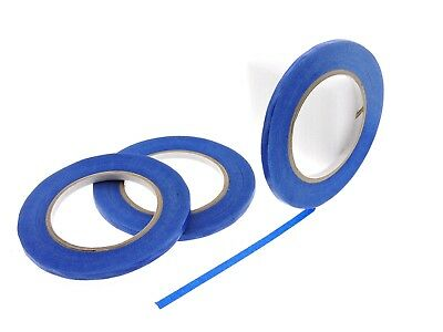 """3pk 1/4"""" inch Blue Painters Tape Masking Trim 21 Day Clean Release USA MADE 60yd"""