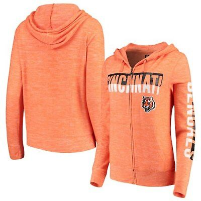 Cincinnati Bengals New Era Women s Glitter Sweater Knit Tri-Blend Full-Zip da7727953