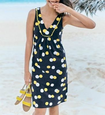 d3f181b6391 New Boden Tarifa Tunic Summer Dress - Uk Size 6 -20 - Navy Yellow White
