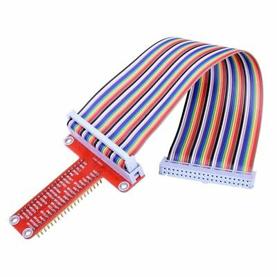 RPi GPIO Breakout Expansion Board + Ribbon Cable + Assembled T Type GPIO Ad O1O0