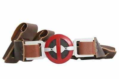 Deadpool Cosplay Belt Costume Props 4 Pockets Halloween Party Adult Men Xcoser