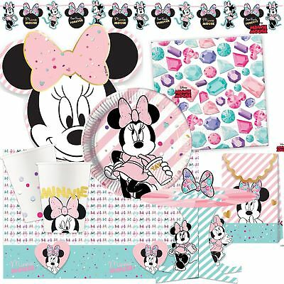 Disney Minnie Mouse Gem Birthday Party Girls Pink Tableware Sparkle Decorations