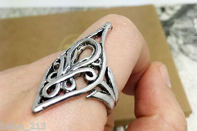 Hobbit elf lord Elrond Silver Ring LOTR The Lord of Rings hot sale