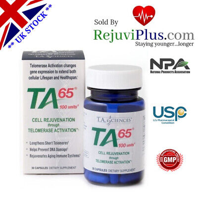 TA 65 Anti Aging Astralagus Stop Cellular Aging via Telomerase Clinical proof !