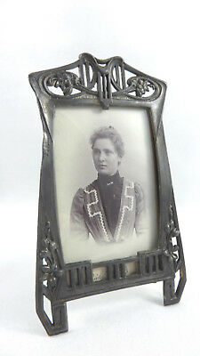 Stunning antique German ART NOUVEAU picture PHOTO FRAME floral design