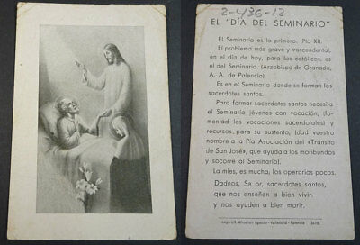 Old Blessed Christ Protecting The Sick Holy Card Andachtsbild Santini     Cc2131